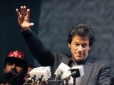 Imran Khan ramps up anti-graft revolution by Emmanuel Duparcq      Pakistani laborors set up a stage for a political rally for Imran Khan, a former cricket captain,  in Karachi on December 23, 2011. PHOTO: AFP