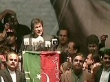 Imran Khan addresses the rally.
