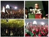 Screen captures from the PTI jalsa.
