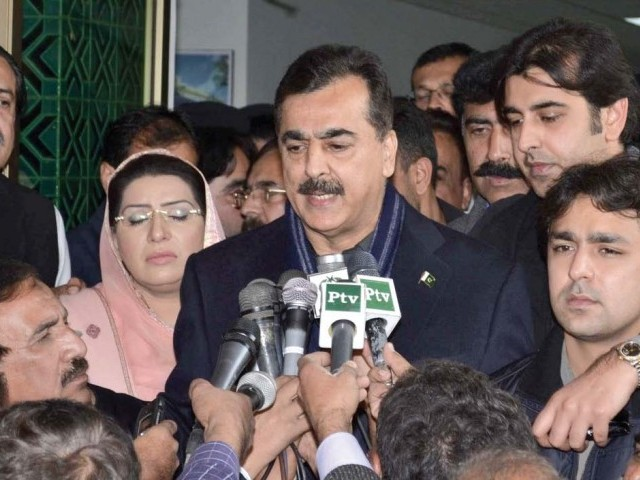 PM Gilani insisted that the Senate elections would go ahead as planned in May. PHOTO: EXPRESS