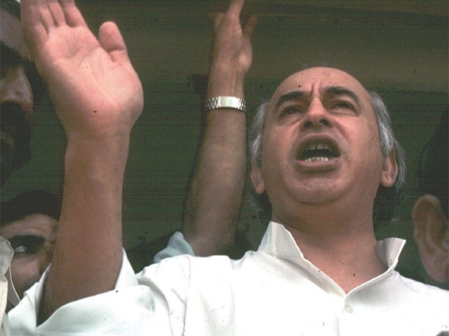 Last year in November, President Asif Ali Zardari revived the presidential reference to reopen the case relating to Zulfikar Ali Bhutto's death. PHOTO: FILE