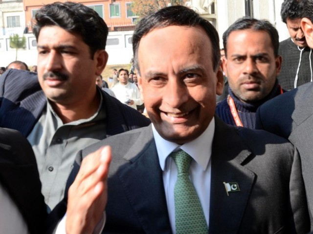 Former Ambassador of Pakistan in United States Husain Haqqani coming out of Islamabad High Court after hearing of Memogate case on Monday. PHOTO: MUHAMMAD JAVAID/ THE EXPRESS TRIBUNE