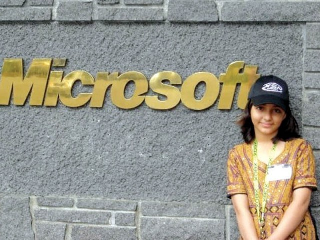 Arifa after Microsoft recognition. PHOTO: FILE