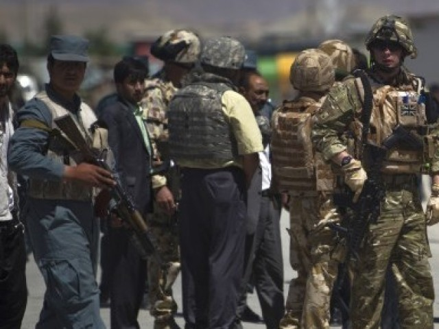 At least two policemen were killed when a group of suicide bombers stormed a government building in southeastern Afghanistan on Tuesday. PHOTO: REUTERS/FILE