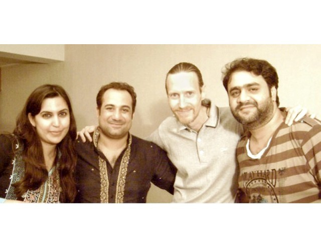 Sarah Tareen, Rahat Fateh Ali Khan, Steve Moore and Sahir Ali. PHOTO:PUBLICITY