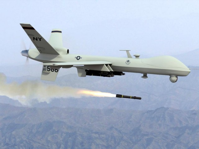 A drone targeted a militant compound, killing four.