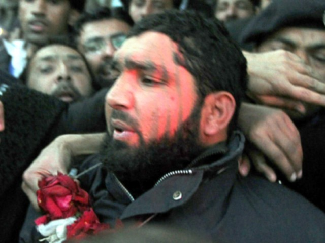 Money received for anti-Taliban rally but group later led pro-Mumtaz Qadri demo. PHOTO: AFP/FILE