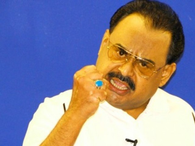 MQM chief says he is ready to talk to the Taliban for the sake of the country. PHOTO: FILE
