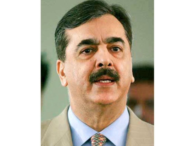 PM Yousaf Raza Gilani. PHOTO:FILE