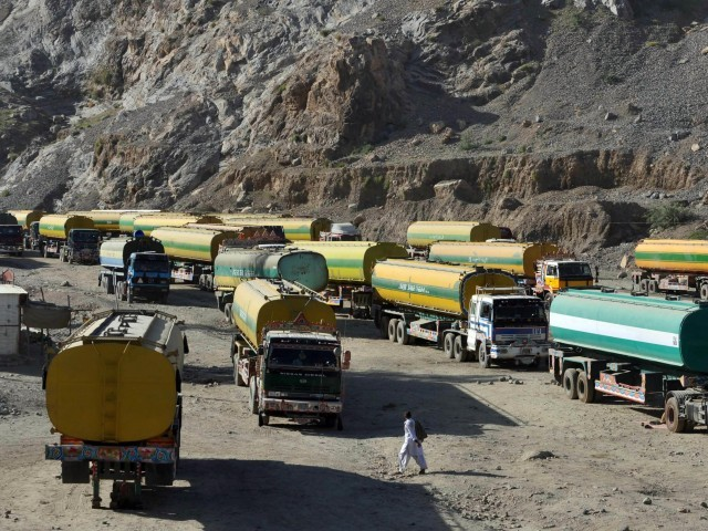 Pakistan shut two border crossings for Nato containers after a US air strike killed at least 23 soldiers in November. PHOTO: AFP