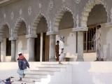 The mosque of Bait-ul Islam seminary in Matli, where many families live after converting to Islam. PHOTOS: AYESHA MIR/EXPRESS