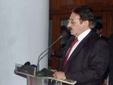 Addressing members of the bar and bench. PHOTO: APP