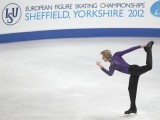 Evgeni Plushenko of Russia performs his men's short programme at the European Figure Skating Championships at the Motorpoint Arena in Sheffield, northern England January 26, 2012.  PHOTO : REUTERS