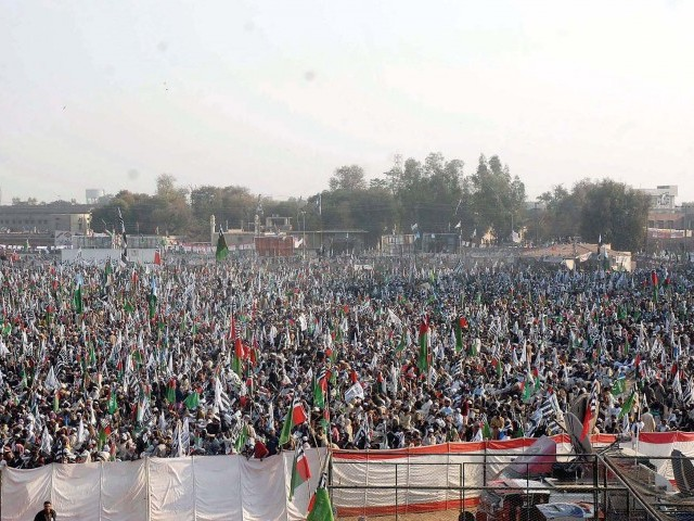 Difa-e-Pakistan Council supporters rally to raise voice against reinstating Nato supply routes. PHOTO: PPI