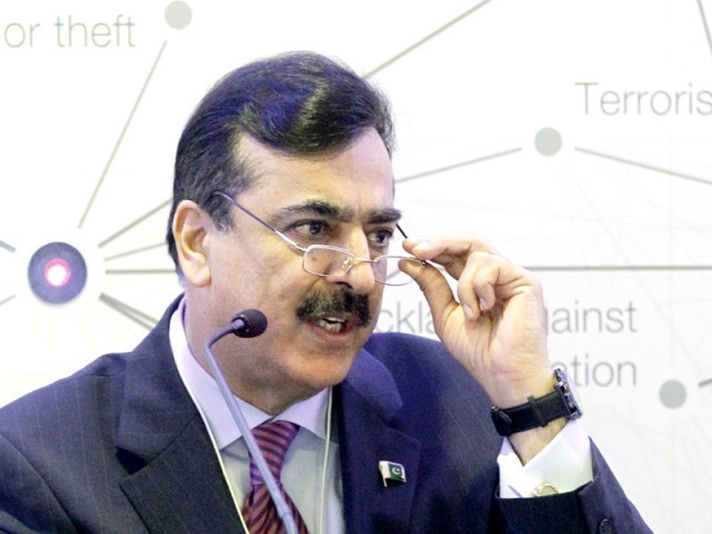 """ We want free, fair and transparent elections and a smooth transition will set a tradition for future,"" PM Gilani. PHOTO: REUTERS"