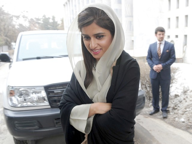 Khar walks out after a joint press conference with her Afghan counterpart at the Foreign Ministry in Kabul. PHOTO: AFP