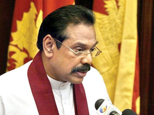 Sri Lankan President Mahinda Rajapaksha. PHOTO: FILE