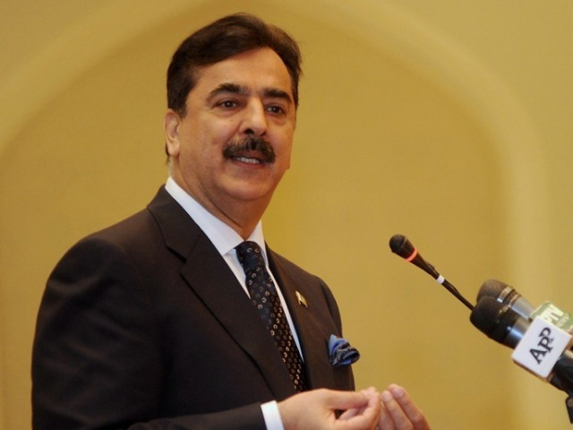 Gilani to face indictment charges on next hearing for the government's two-year refusal to write to Swiss authorities. PHOTO: AFP/FILE