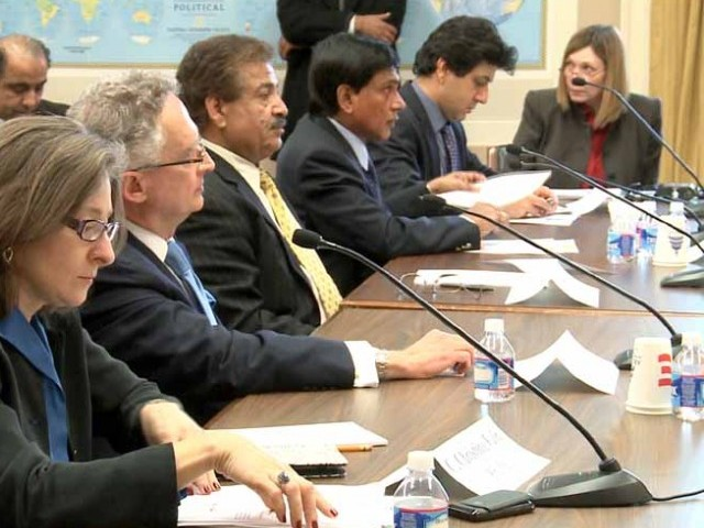 In a packed room of the Rayburn House Office Building, members of the House Foreign Affairs' Subcommittee on Oversight and Investigations on Thursday focused on condemning the Pakistani government and accusing it of broad human rights abuses against the Baloch. PHOTO: AZIZ AHMED/EXPRESS