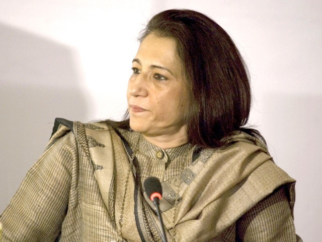 Ayesha Jalal spoke like a true academic, using diction that the audience was unfamiliar with. PHOTO: AYESHA MIR/EXPRESS