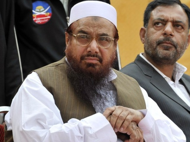 US concerned about the JuD chief's public appearances recently, particulary the DPC rallies. PHOTO: AFP/FILE