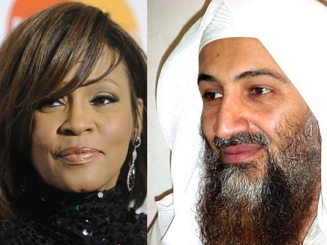 Sudanese author says bin Laden wanted to marry Houston, had also once plotted to murder her husband Bobby Brown. PHOTO: REUTERS/AFP