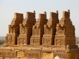 The Chaukhandi tombs, containing 25 cemeteries, make the ground a breathtaking display of architecture. FARAH KAMAL