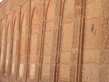 Most of the architecture is embellished with geometric patterns cut in the sandstone. PHOTO: FARAH KAMAL