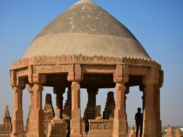 The Chaukhandi tombs are unrivalled contributions to Islamic sepulchral architecture and ornamental sculpture. PHOTO: FARAH KAMAL