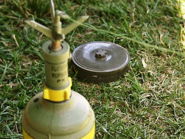 One man died on the spot when stepped on a landmine placed by unidentified persons in his farm.