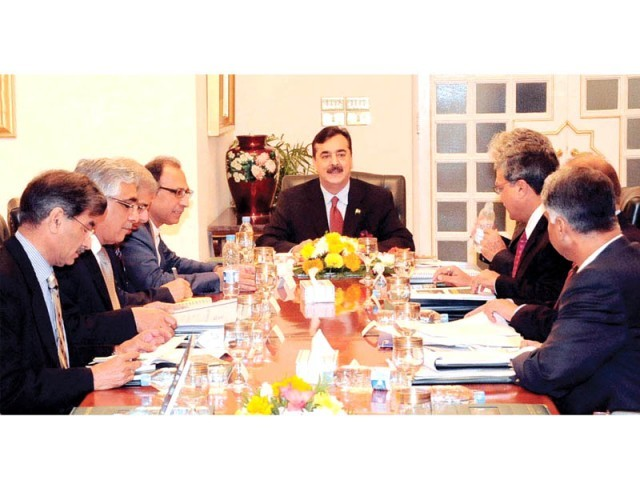 Financial team meeting with the prime minister at the PM House. PHOTO: NNI