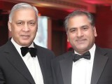 Shaukat Aziz and Ashraf Chohan.PHOTO COURTESY SHAHID MALIK