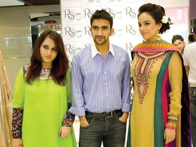 Humna, Umair and Sara Gillani.PHOTO COURTESY VOILA PR