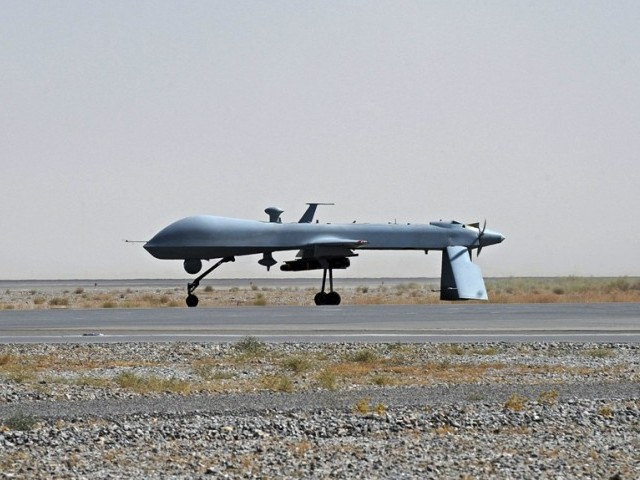 The drone crashed in Machikhel area of North Wazirsitan. PHOTO: AFP/ FILE