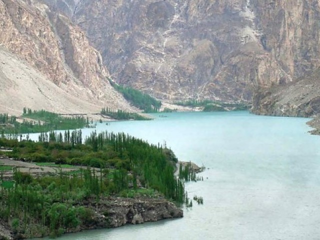 A file photo of the Attabad lake. PHOTO: EXPRESS