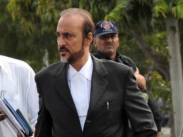 Lahore High Court adjourns hearing due to the absence of Babar Awan's lawyer. PHOTO: INP/ FILE