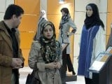Iranians visit the Islamic fashion exhibit in central Tehran on March 1, 2012. PHOTO: AFP