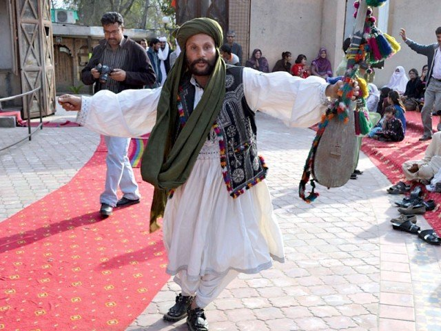 The event included Balochi song and dance performances. PHOTO: LOK VIRSA