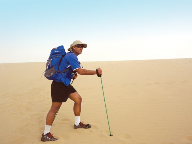 Busy in training, Ziyad Rahim takes part in race after race ahead of the gruelling 150 miles (250 km) Marathon des Sables or the Marathon of the Sands at the Sahara Desert. PHOTO: THE EXPRESS TRIBUNE