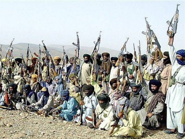 Baloch insurgents at a camp south of Quetta, PHOTO: AFP