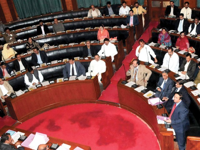 The Election Commission failed to do a tidy job as the new electoral rolls are full of errors and discrepancies. All the MPAs in the Sindh Assembly agreed on this fact. PHOTO: RASHID AJMERI/EXPRESS