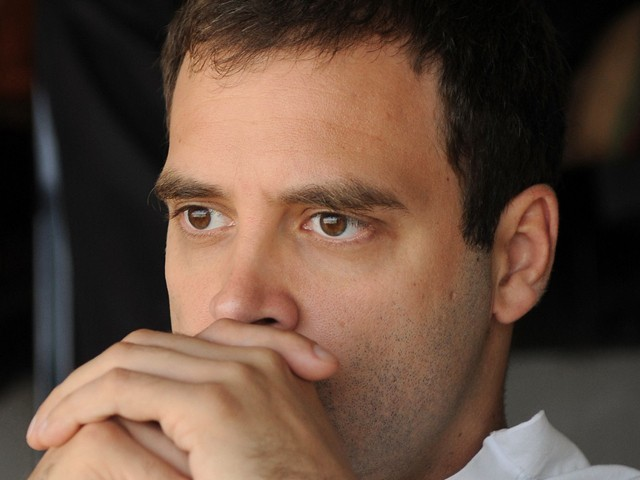 India's Congress party was trailing in fourth place as counting of votes got underway in Uttar Pradesh on Tuesday, a stunning blow to Rahul Gandhi who had staked his political future on reviving his party's fortunes in the populous northern state. PHOTO: AFP/FILE