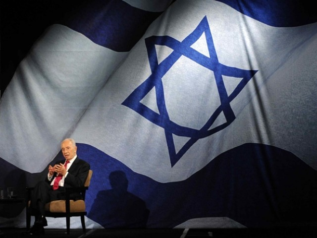 Israel's President, Shimon Peres speaks during an address to the Jewish community of Los Angeles held at the Beverly Hilton Hotel in Beverly Hills, California March 8, 2012. PHOTO: REUTERS