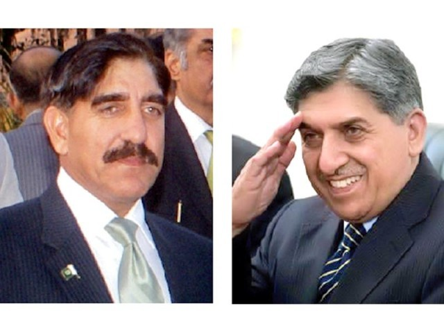 Newly appointed director-general of ISI Lt-Gen Zaheerul Islam and outgoing ISI chief Lt-Gen Shuja Pasha. PHOTOS: REUTERS & FILE