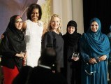 shad-begum-international-women-of-courage-award-2012-michelle-obama-hillary-clinton-photo-afp-2