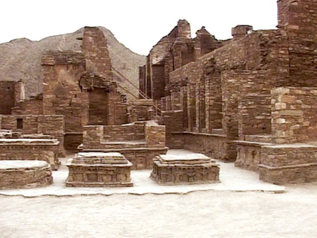 A view of Buddhist remains in Takht Bhai. PHOTO: EXPRESS NEWS