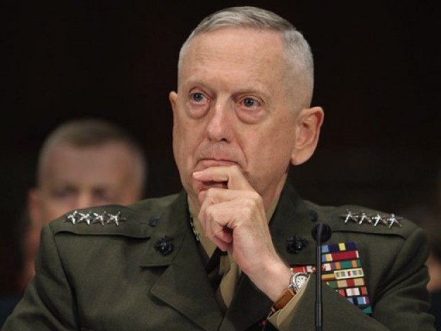 Centcom chief Gen James Mattis says Islamabad ties vital for security efforts in Afghanistan.  PHOTO: AFP/ FILE