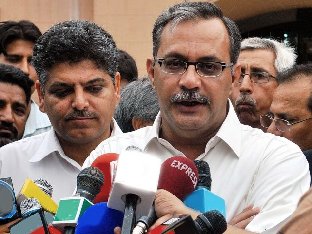 Haider Abbas says if incidents of extortion not curbed, MQM might boycott upcoming joint parliamentary session. PHOTO: PPI/FILE