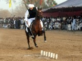 Tent-pegging evolved from the military tactic and has attracted throngs of fans over the years. PHOTO: QAZI USMAN/ EXPRESS