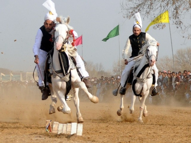 The Tourism Department of Capital Development Authority (CDA) organized a three-day tent-pegging competition at Fatima Jinnah Park on Friday. PHOTO: QAZI USMAN/ EXPRESS